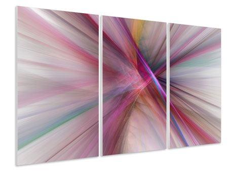 Hartschaumbild 3-teilig Abstraktes Lichterleuchten