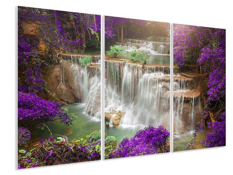 Hartschaumbild 3-teilig Garten Eden