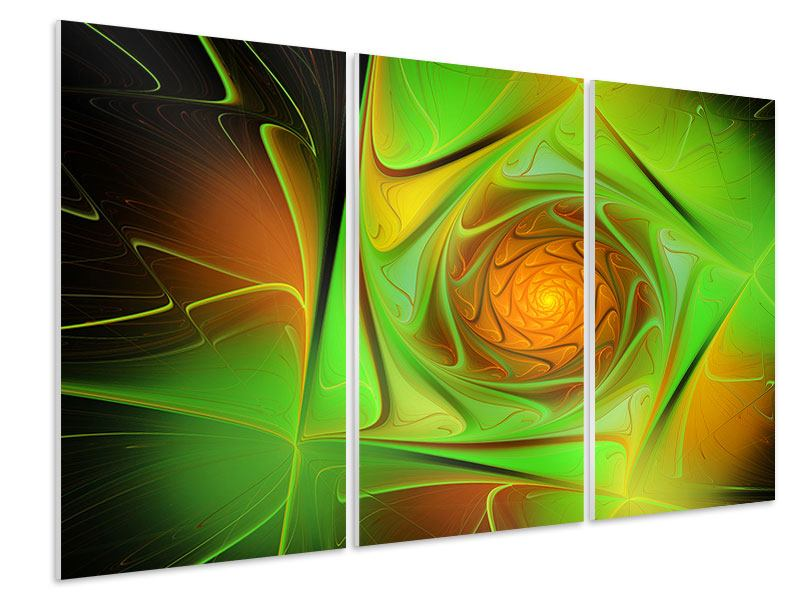 Hartschaumbild 3-teilig Abstraktionen