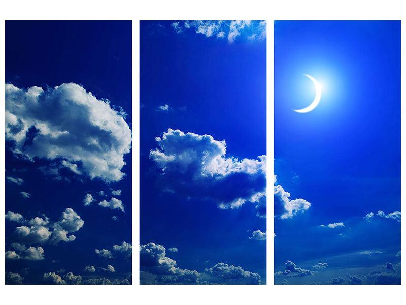 Hartschaumbild 3-teilig Der Mond