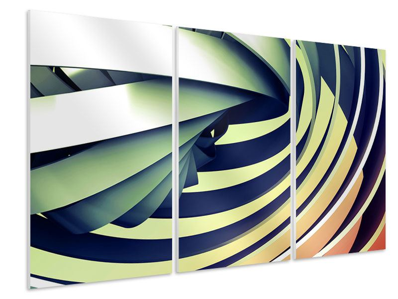 Hartschaumbild 3-teilig Abstrakte Perspektiven