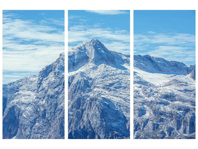Hartschaumbild 3-teilig Friedliche Bergstimmung