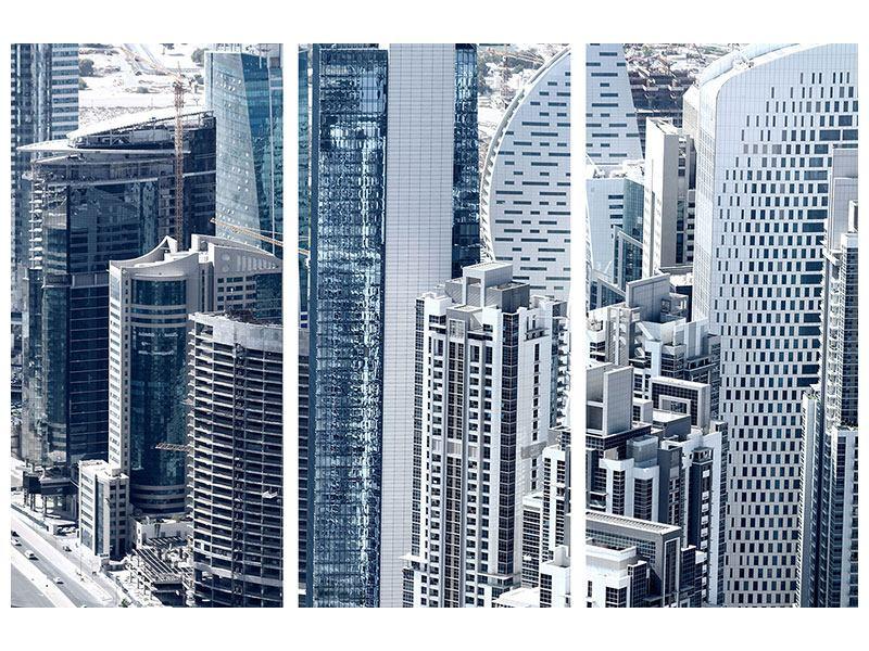 Hartschaumbild 3-teilig Die Wolkenkratzer von Dubai