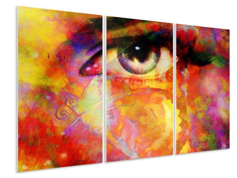 Hartschaumbild 3-teilig Das Auge