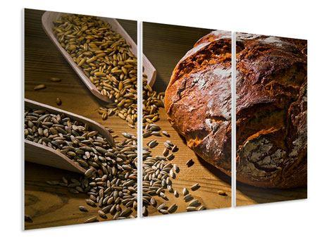 Hartschaumbild 3-teilig Das Brot