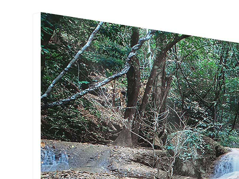 Hartschaumbild 3-teilig Ein Wasserfall