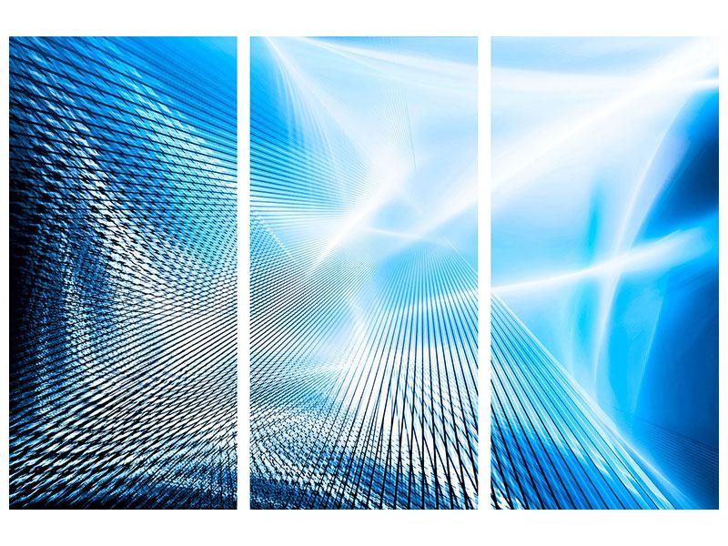 Hartschaumbild 3-teilig Laser