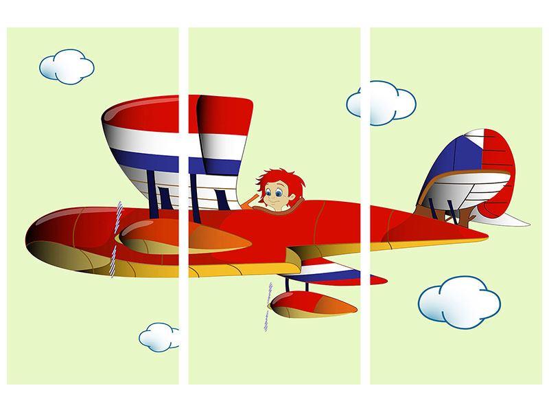 Hartschaumbild 3-teilig Der fliegende Junge
