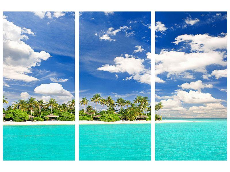 Hartschaumbild 3-teilig Meine Insel