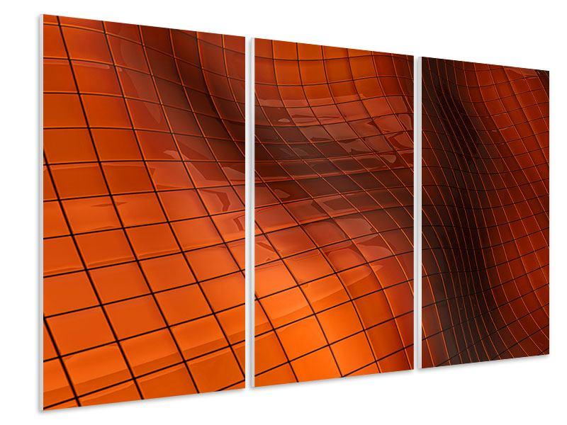 Hartschaumbild 3-teilig 3D-Kacheln
