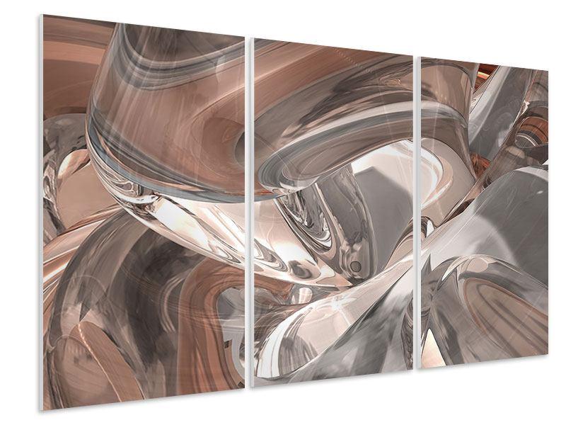 Hartschaumbild 3-teilig Abstraktes Glasfliessen