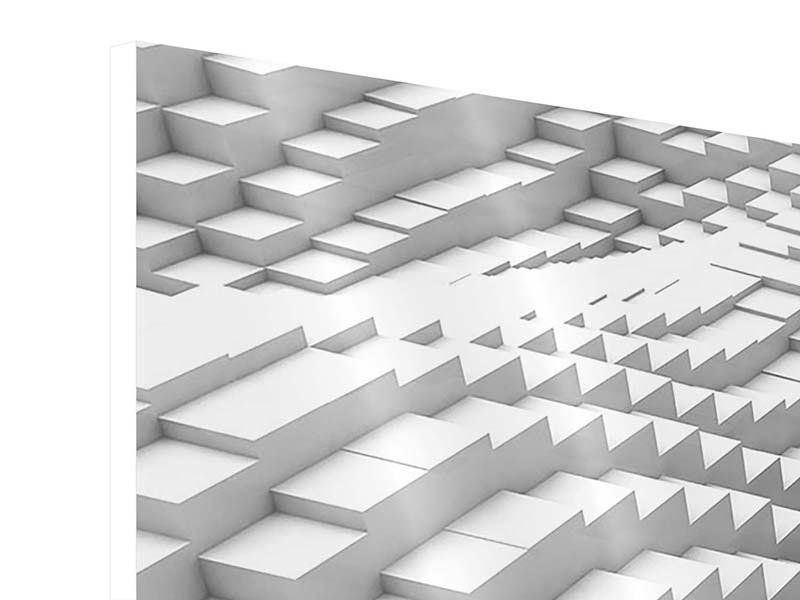 Hartschaumbild 3-teilig 3D-Elemente