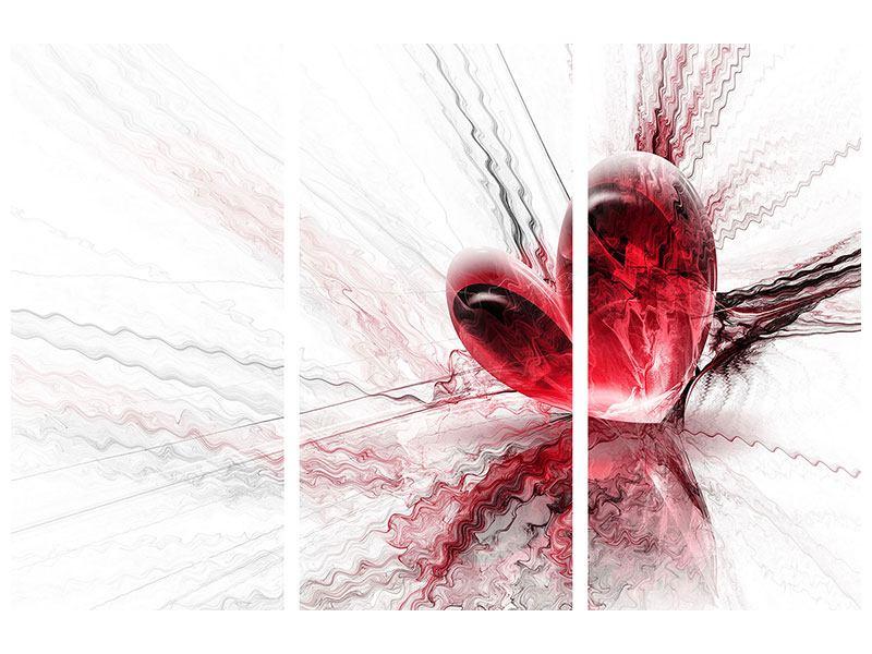 Hartschaumbild 3-teilig Herzspiegelung