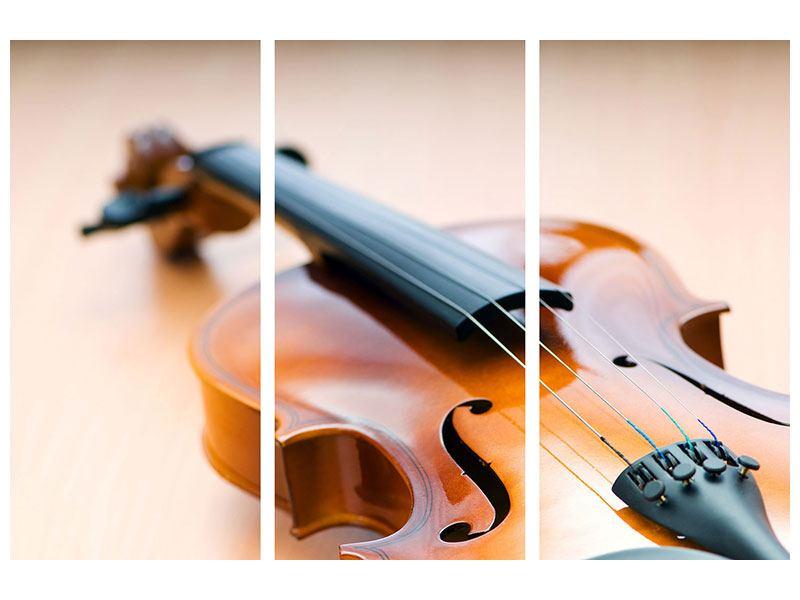 Hartschaumbild 3-teilig Geige