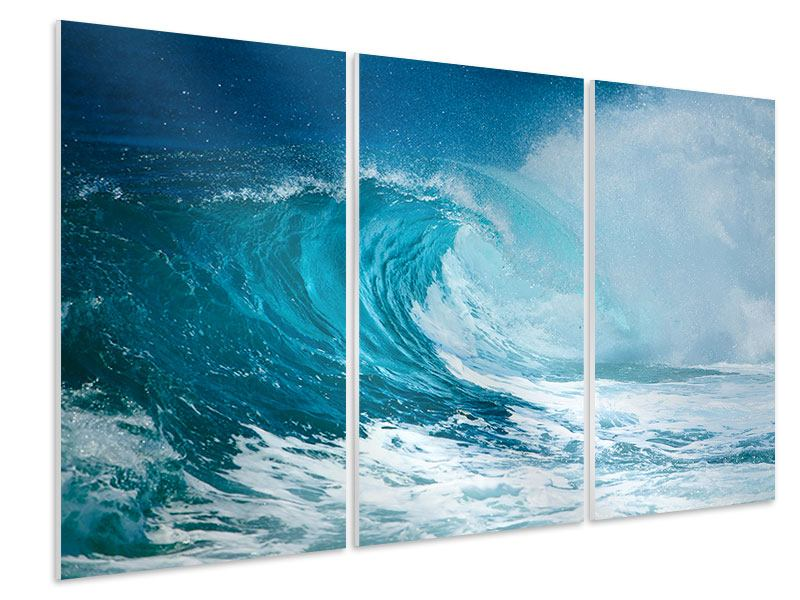 Hartschaumbild 3-teilig Die perfekte Welle