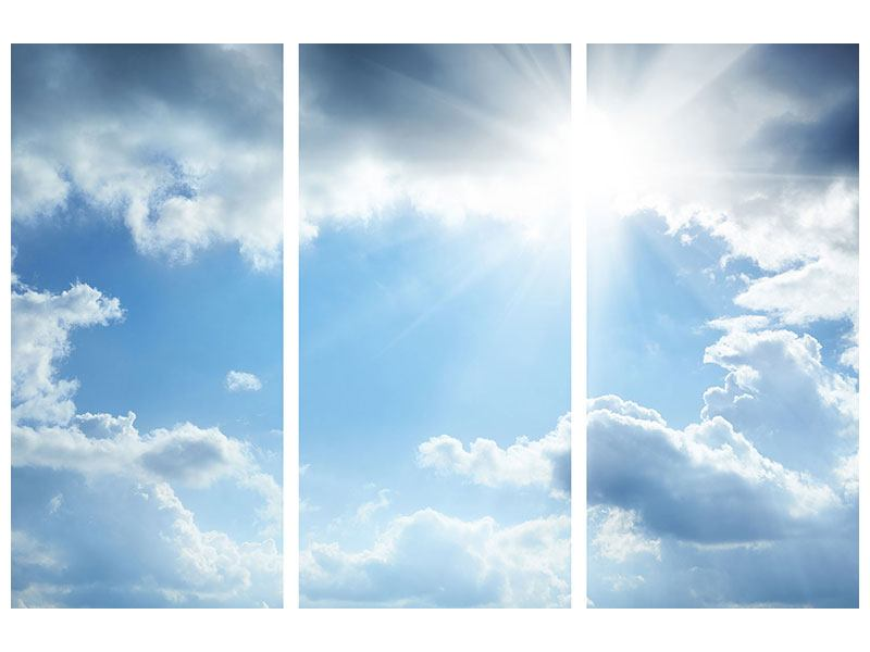 Hartschaumbild 3-teilig Himmelshoffnung