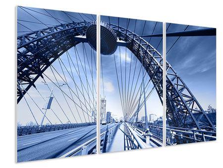 Hartschaumbild 3-teilig Schiwopisny-Brücke