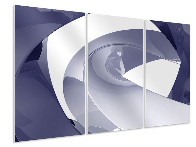 Hartschaumbild 3-teilig Abstrakte Schwingungen