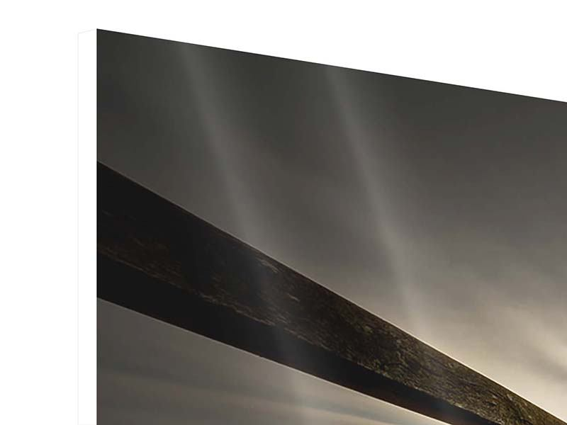 Hartschaumbild 3-teilig Die Holzbrücke