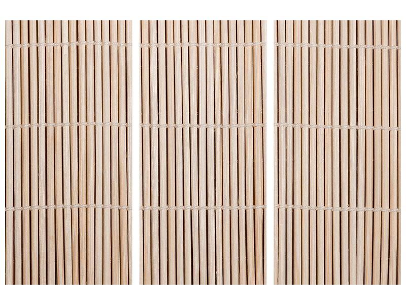 Hartschaumbild 3-teilig Lucky Bamboo