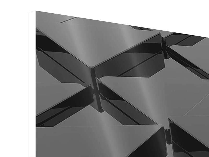 Hartschaumbild 3-teilig 3D-Dreiecksflächen
