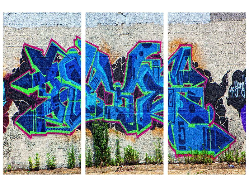 Hartschaumbild 3-teilig Graffiti NYC