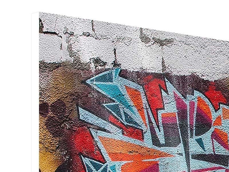 Hartschaumbild 3-teilig New York Graffiti