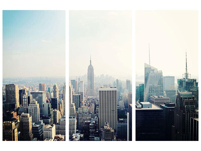 Hartschaumbild 3-teilig NYC