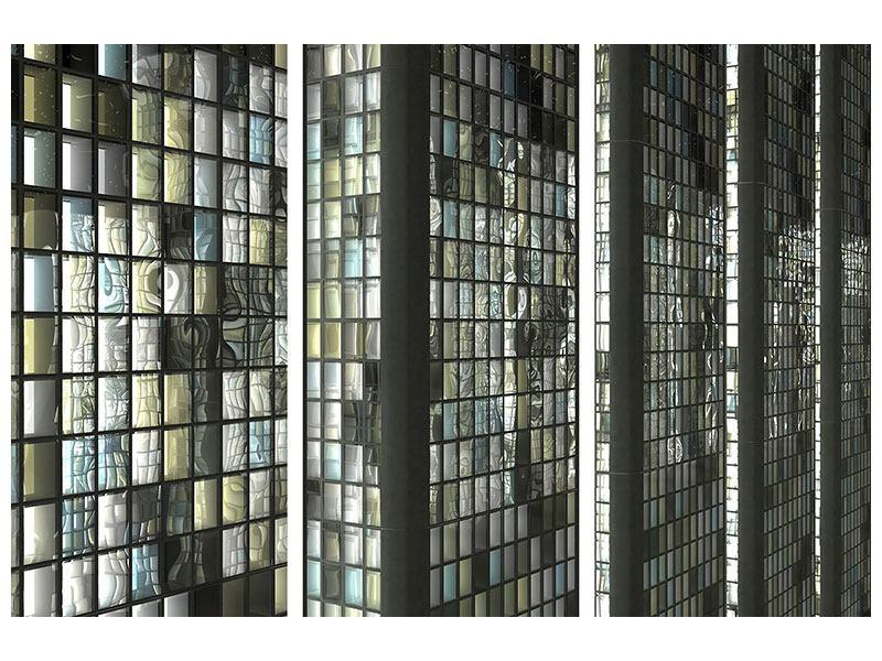 Hartschaumbild 3-teilig Windows
