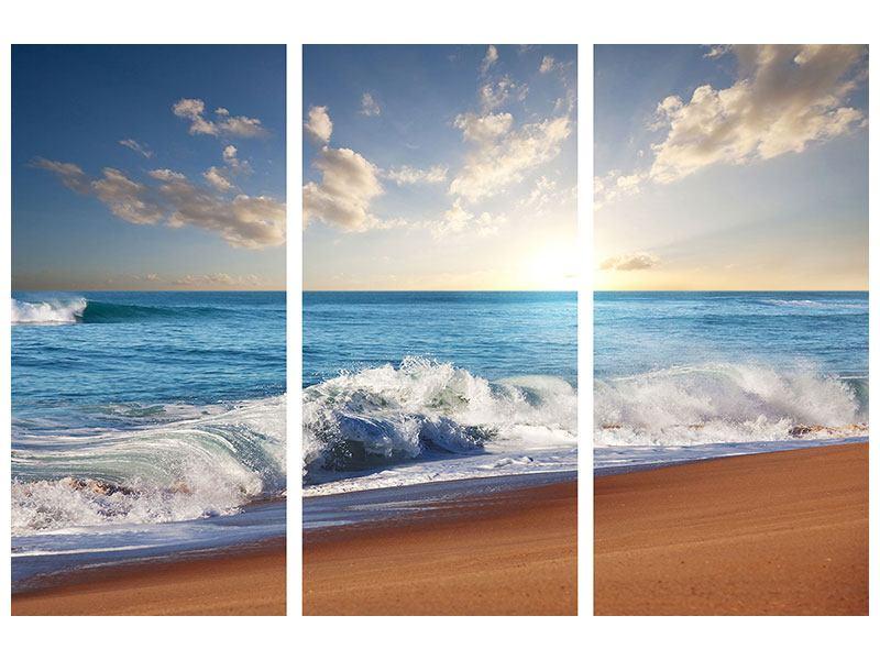 Hartschaumbild 3-teilig Die Wellen des Meeres