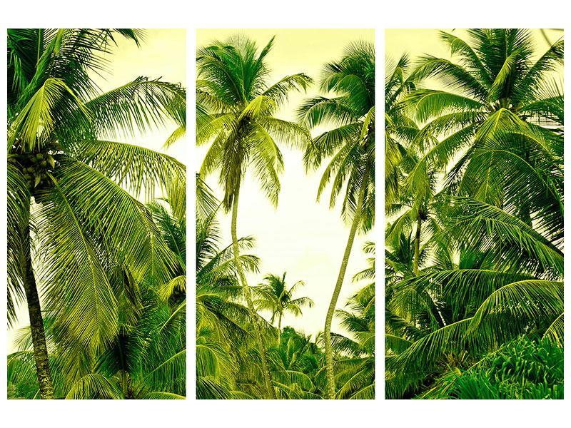 Hartschaumbild 3-teilig Reif für die Insel