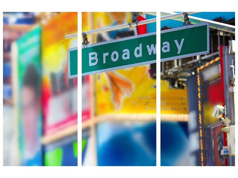 Hartschaumbild 3-teilig Broadway