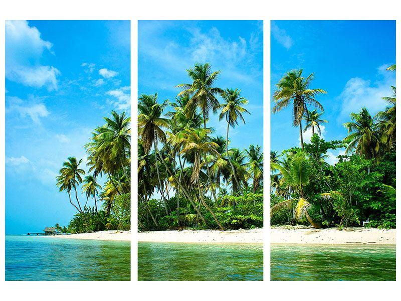 Hartschaumbild 3-teilig Reif für die Ferieninsel