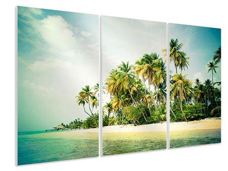 Hartschaumbild 3-teilig Tobago Cays