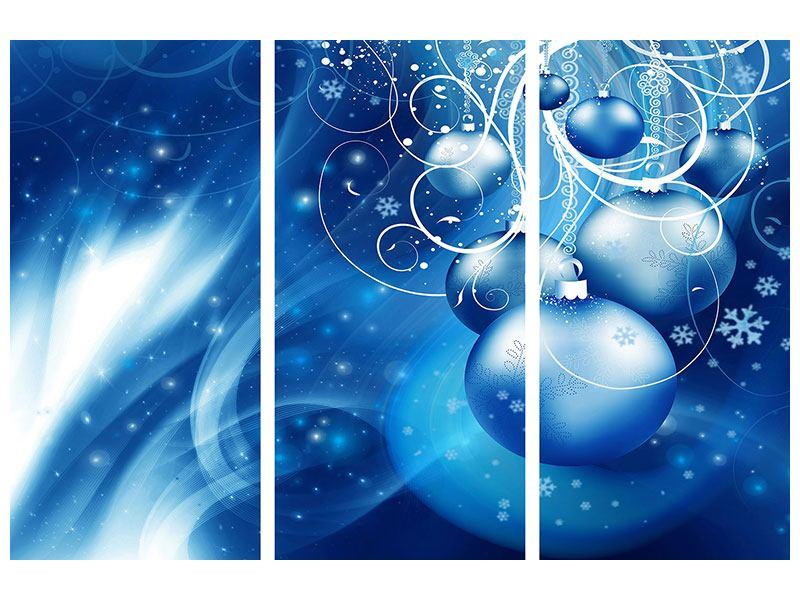 Hartschaumbild 3-teilig Shingle Bells