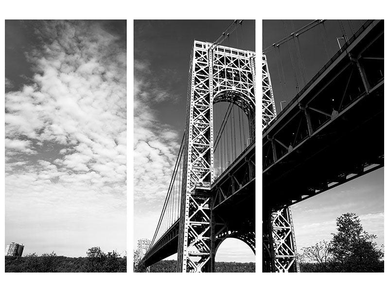 Hartschaumbild 3-teilig Georg-Washington-Bridge