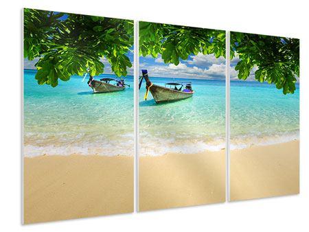 Hartschaumbild 3-teilig Ein Blick auf das Meer