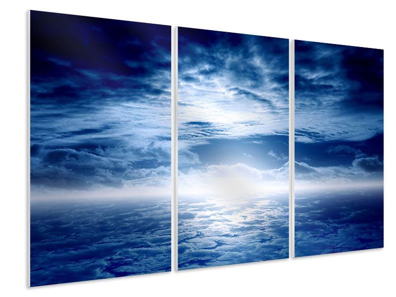 Hartschaumbild 3-teilig Mystischer Himmel