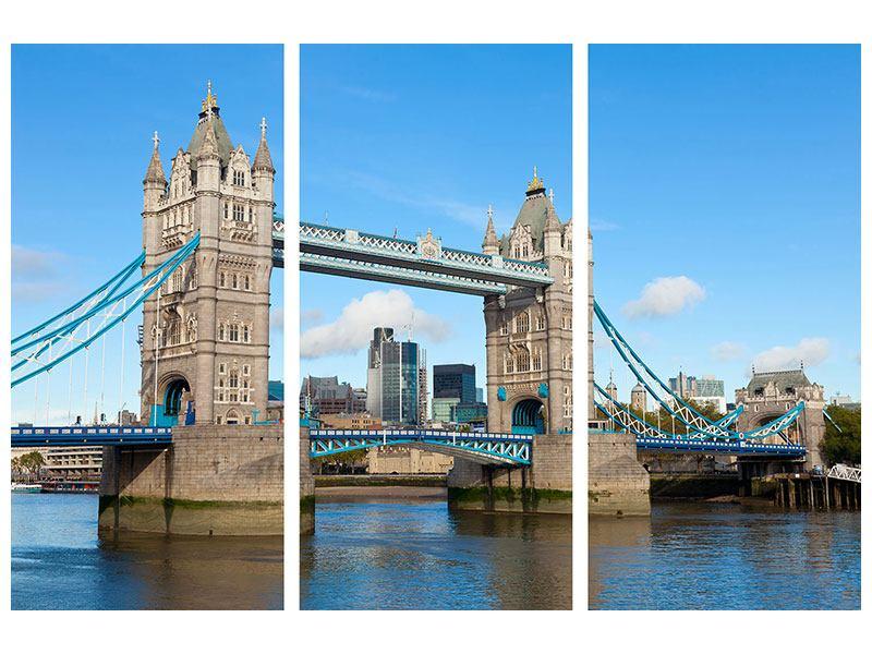 Hartschaumbild 3-teilig Die Tower Bridge