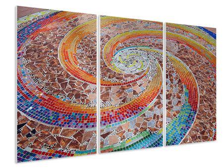 Hartschaumbild 3-teilig Mosaik