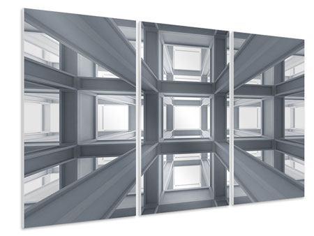 Hartschaumbild 3-teilig Räume