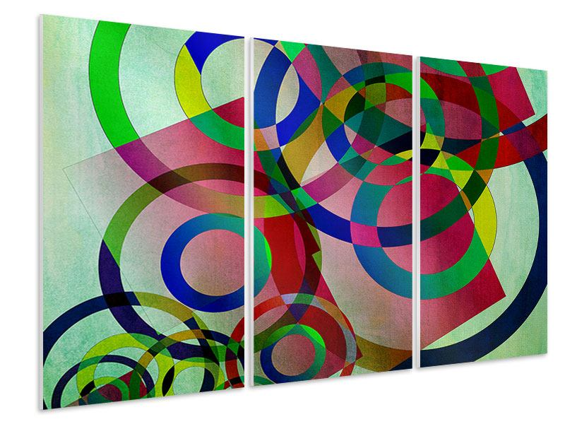 Hartschaumbild 3-teilig Wandkunst
