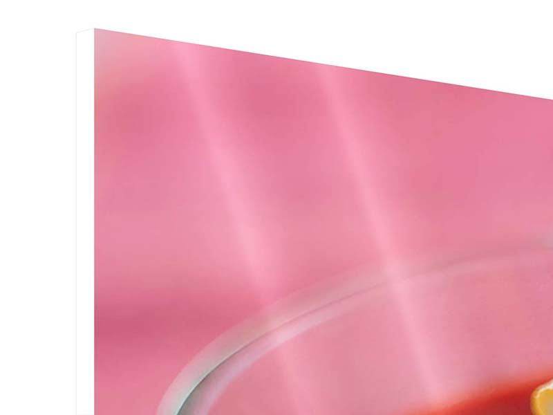 Hartschaumbild 3-teilig Himbeercocktail