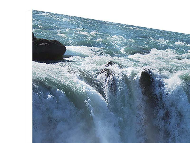 Hartschaumbild 3-teilig Mächtiger Wasserfall