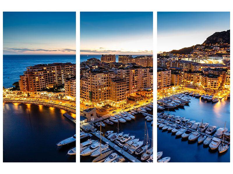 Hartschaumbild 3-teilig Monaco