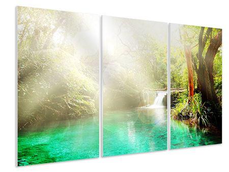 Hartschaumbild 3-teilig Die grüne Lagune