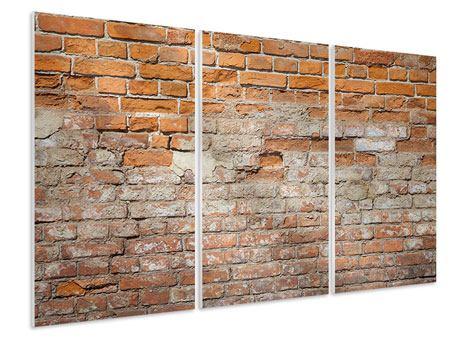Hartschaumbild 3-teilig Alte Klagemauer