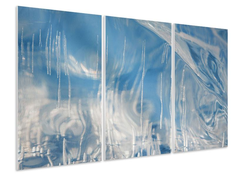 Hartschaumbild 3-teilig Das Eis des Baikalsees
