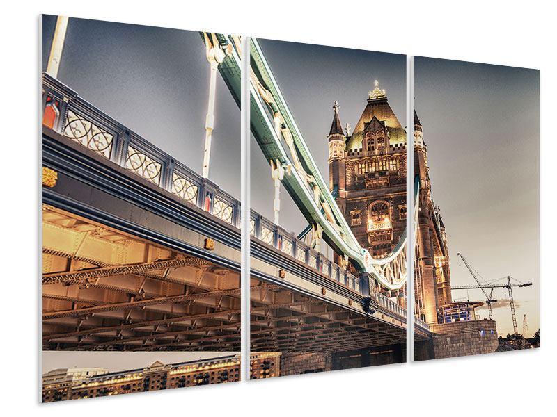 Hartschaumbild 3-teilig Tower Bridge XXL