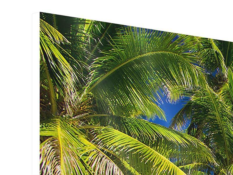 Hartschaumbild 3-teilig Die einsame Insel